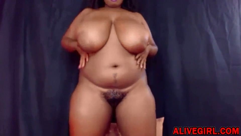Hot BUSTYDIVADD with huge ass n monster tits fucks all her black holes