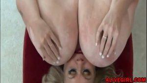 Sexy BBW MILF SuzieQhasbigboobs plays with unreal massive boobs
