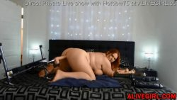 Red-bbw gets fucked by fuck-machine